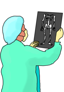 Orthopaedic Doctor checking x-ray
