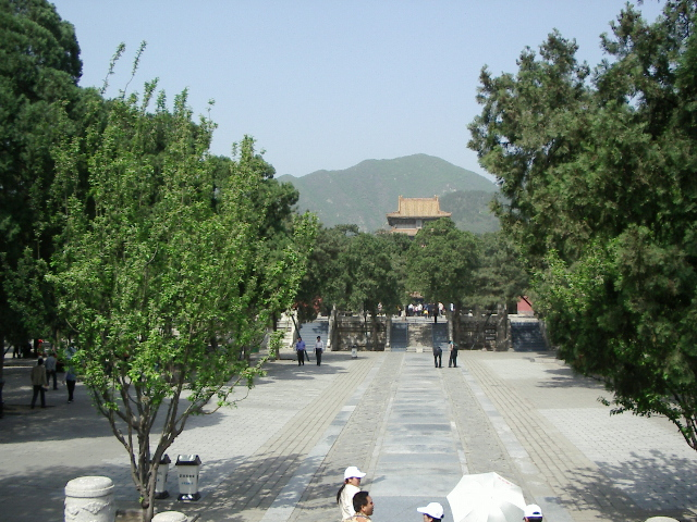 Dingling tomb, one of the Thirteen Tombs of the Ming Dynasty near Beijing